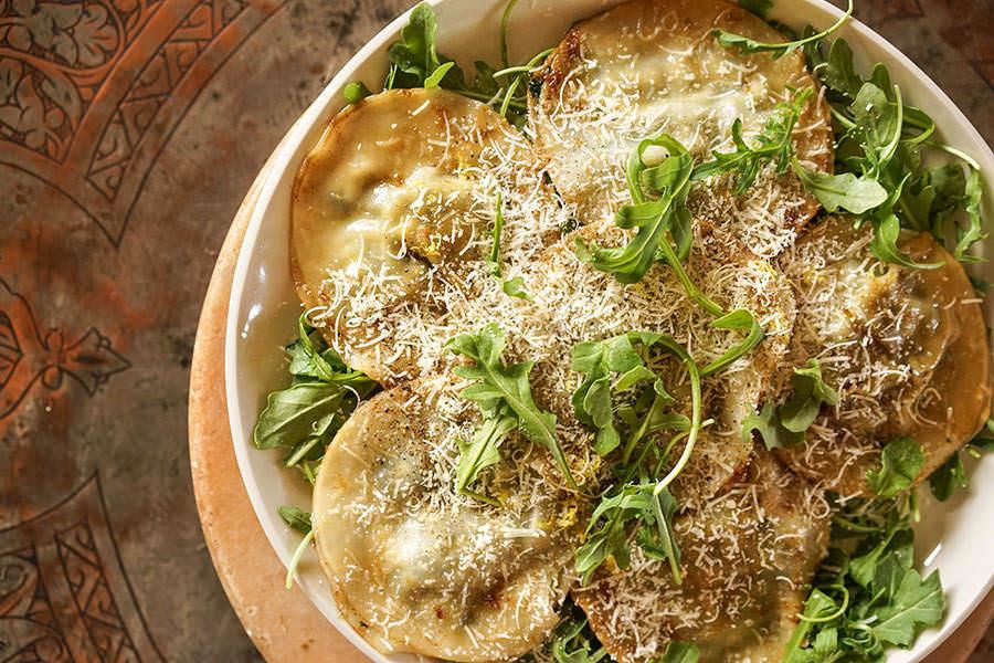 Tortellis au beurre noisette et poivre citronné
