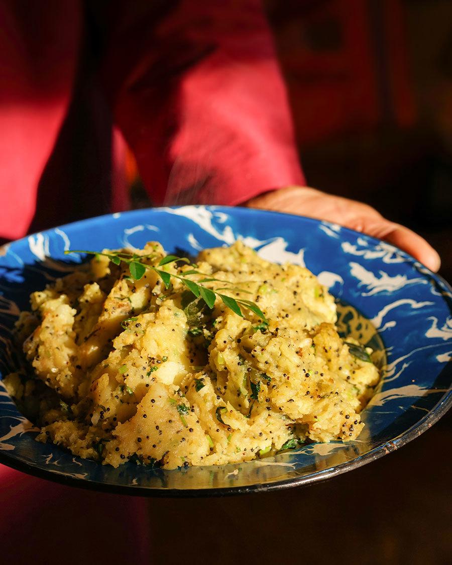 Batata Masala – Pommes de terre écrasées aux épices