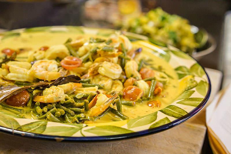 Gulai Kacang Udang - Cari de crevettes et haricots longs