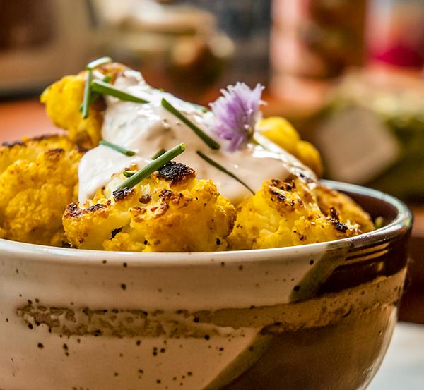 Chou-fleur rôti au cari de Madras