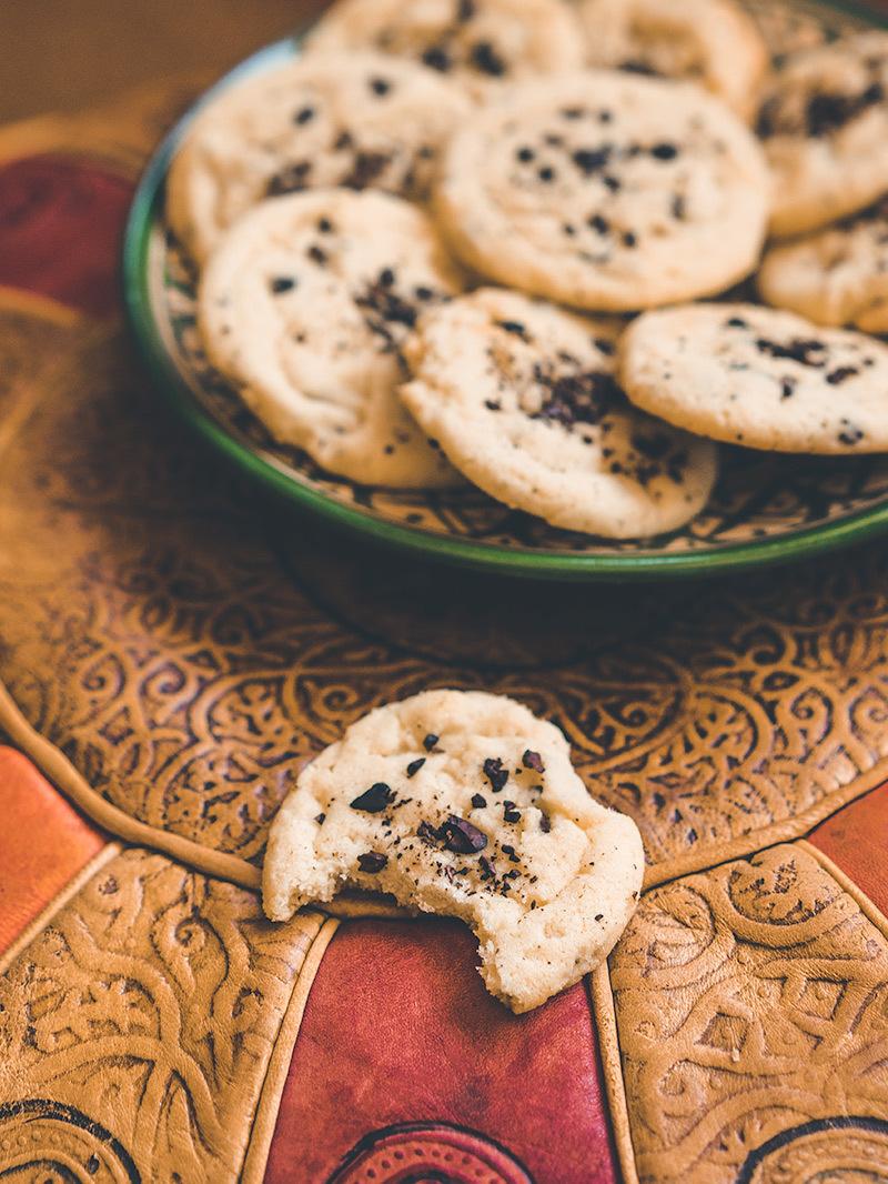Biscuits au beurre de cacao, au grué et à la fève de tonka