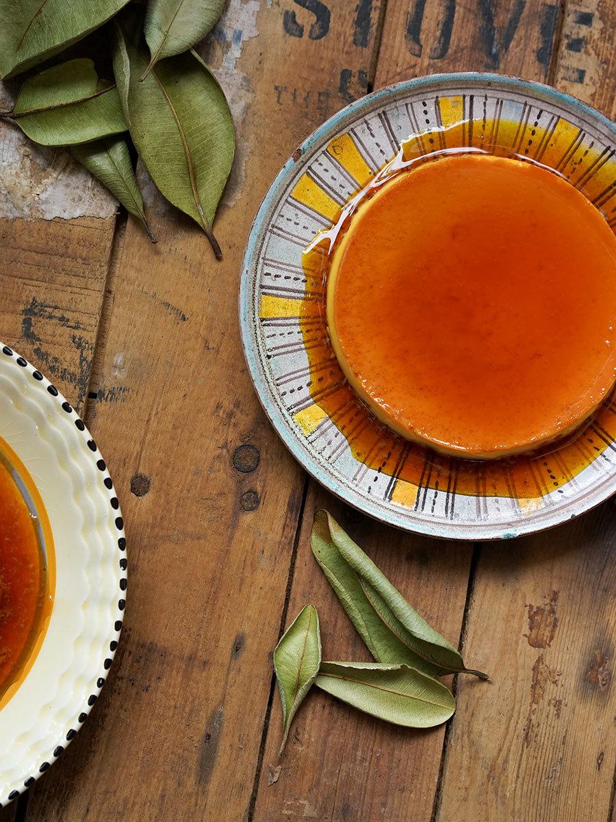 Crème caramel citron et laurier antillais