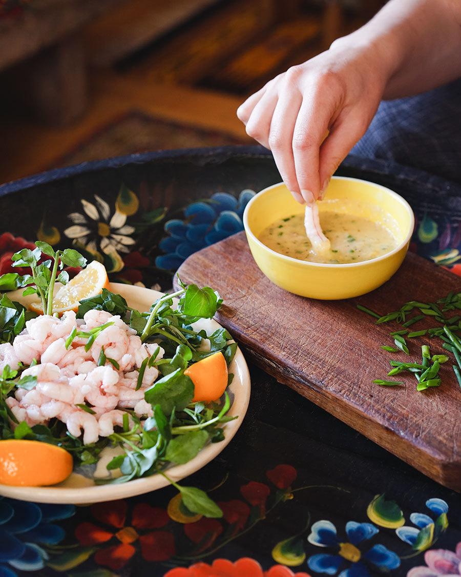 Salade de crevettes de Courchamps