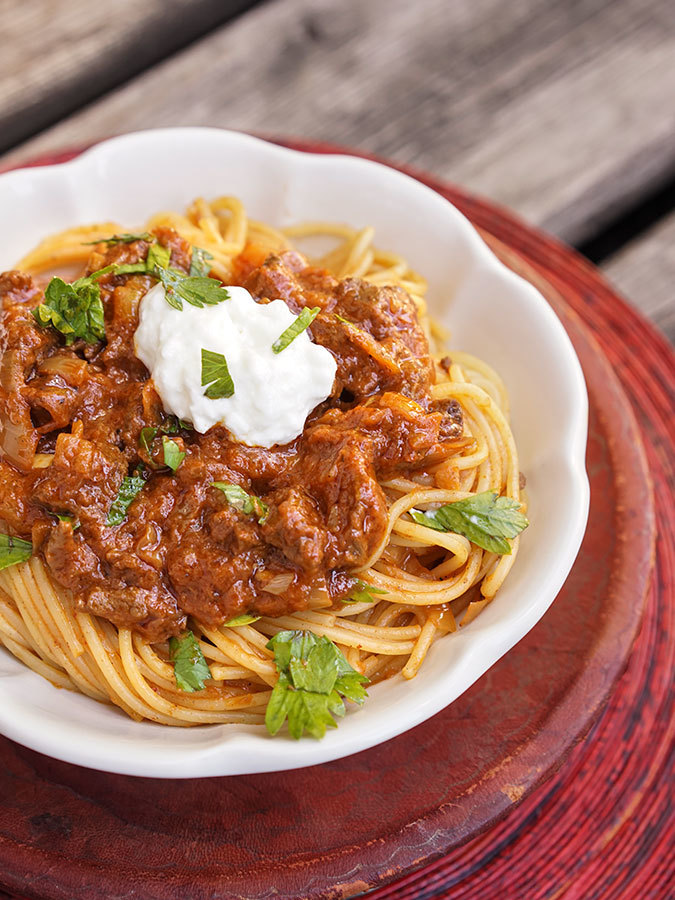 Spaghetti au boeuf à l'éthiopienne