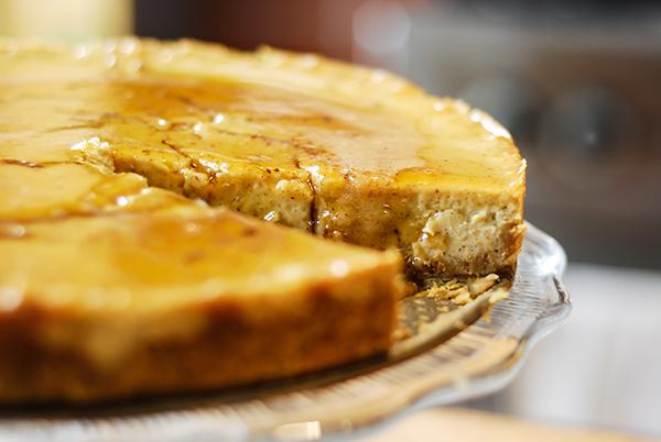 Gâteau au fromage miel et épices