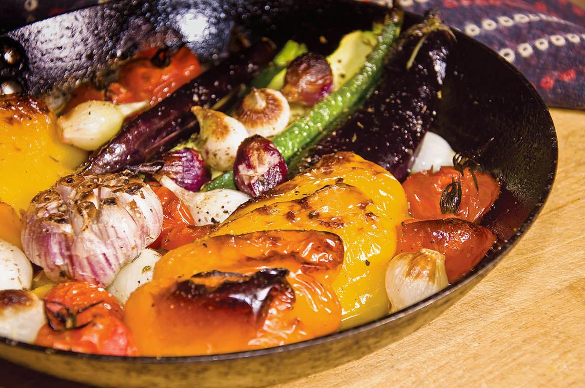 Légumes rôtis aux herbes de Mediterranée