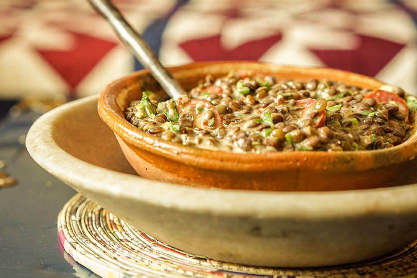 Salade de lentilles à la dijonnaise