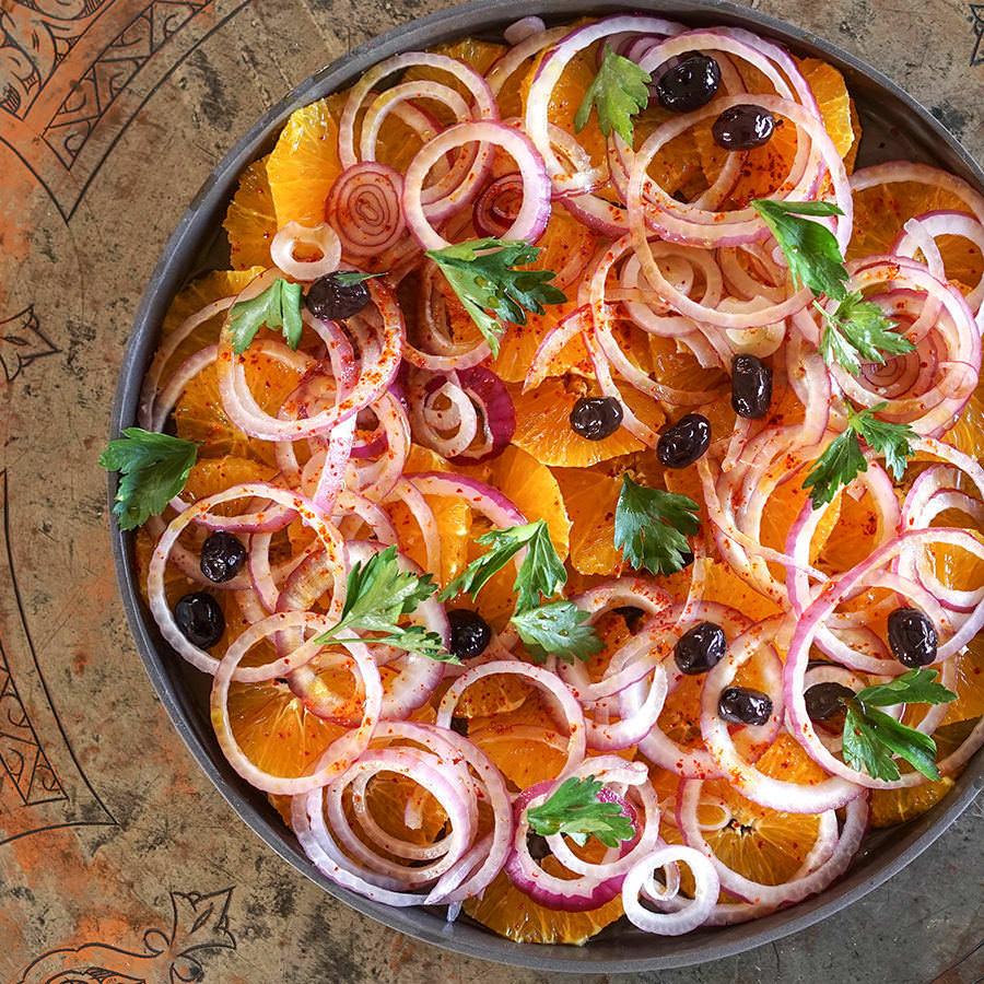 Salade d'oranges et oignons