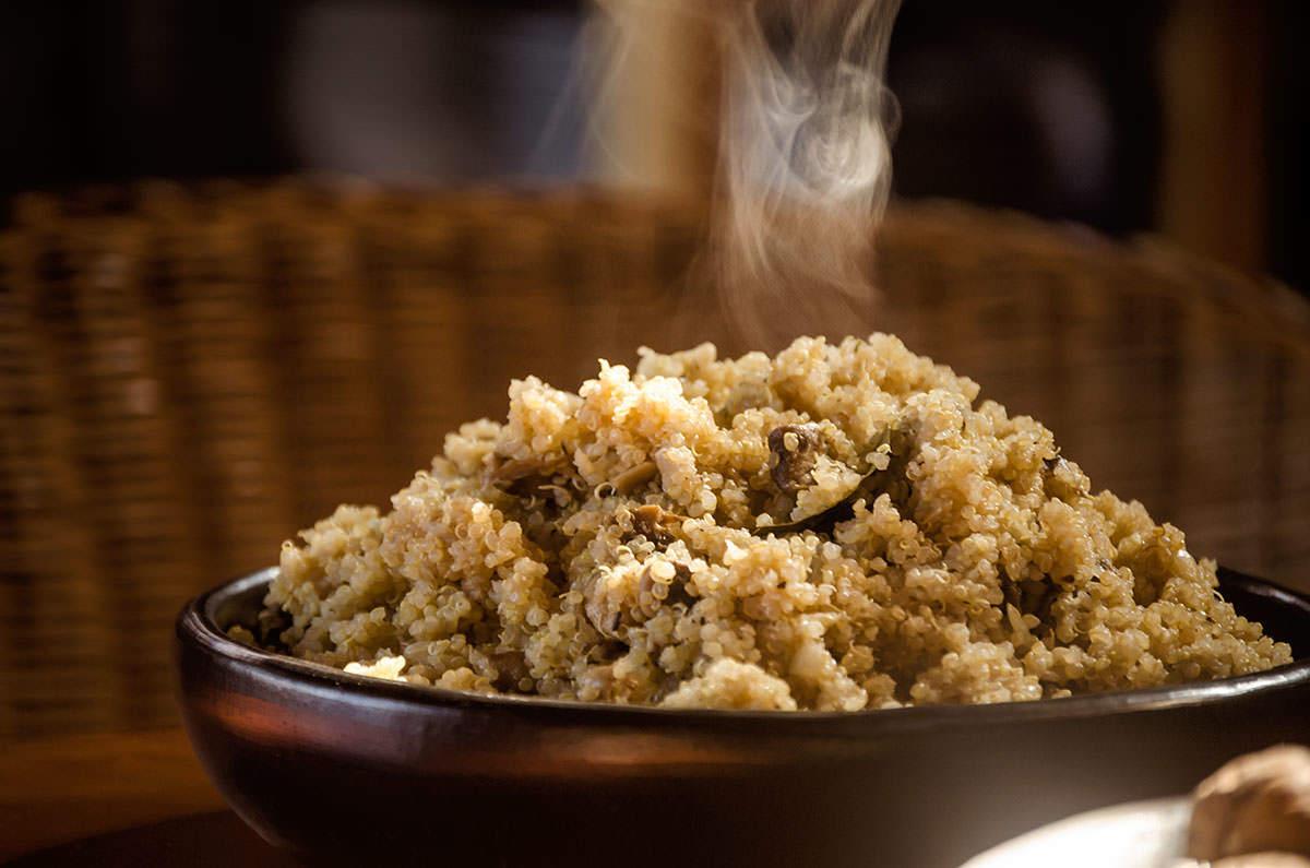 Pilaf de quinoa aux champignons