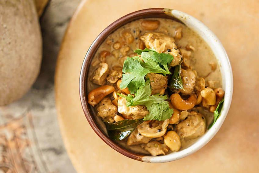 Kozhierchi curry - Cari de poulet et cajous du Kerala