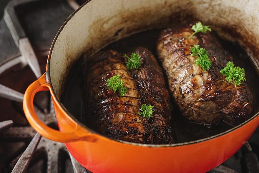 Rôti de porc aux épices à vin chaud
