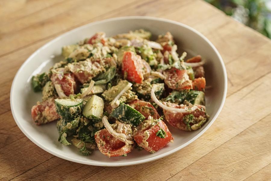 Salade georgienne de tomates et concombre
