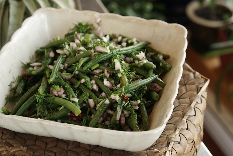 Salade Géorgienne de haricots verts