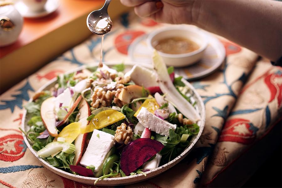 Salade nordique au fromage de chèvre
