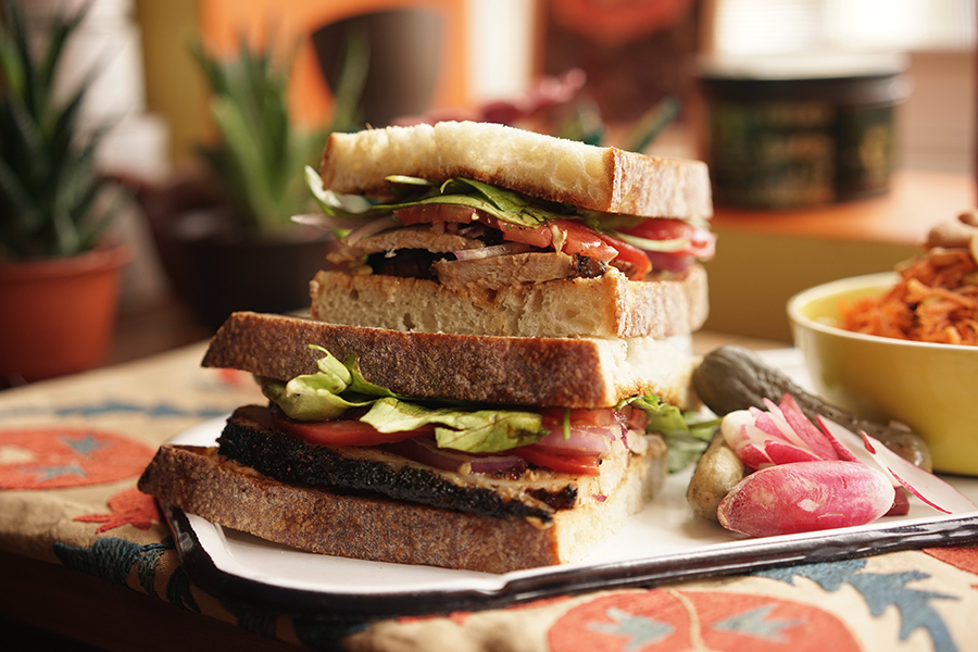 Sandwich de porc «hot & smoky»