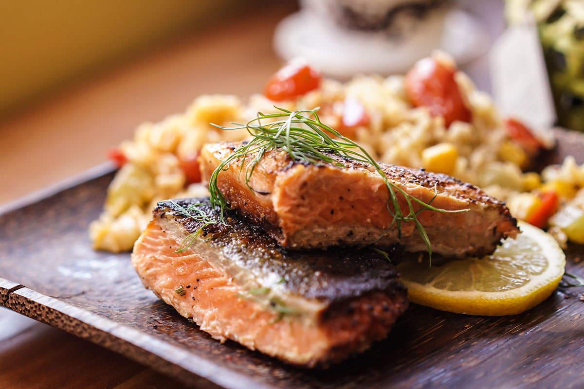 Saumon moelleux et croustillant