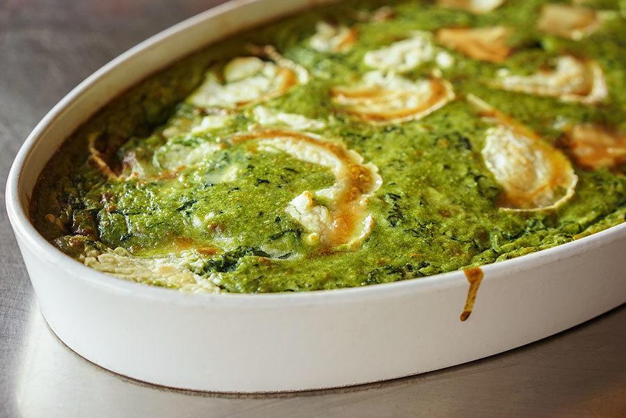 Sformato di spinaci – flan aux épinards et fromage de chèvre