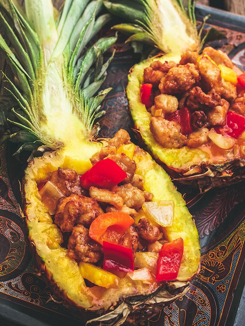 Poulet aigre-doux à l'ananas