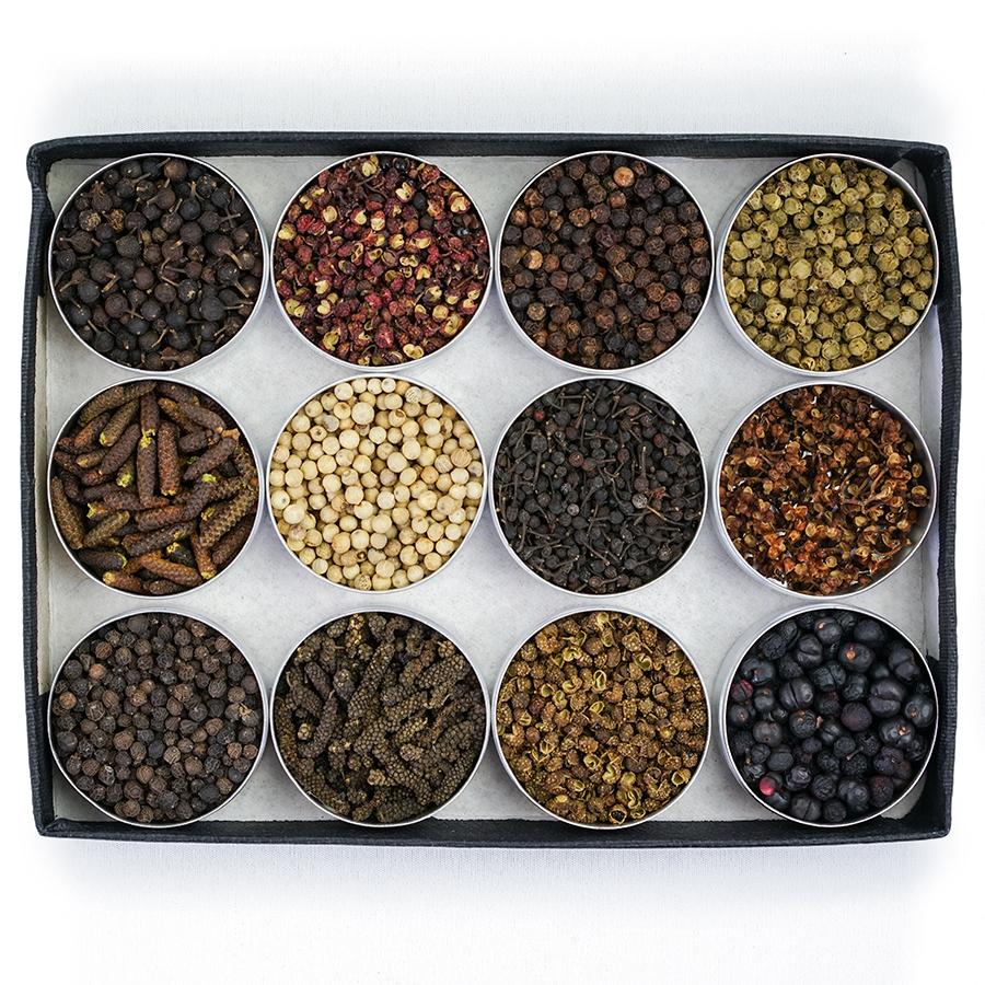 Coffret poivres du monde - Acheter en ligne | Épices de cru