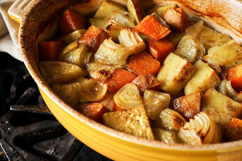 Patates douces brais es au gras de canard recette pices de cru - Recette patate douce blanche ...